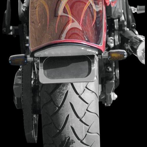 Baron Custom Accessories Warrior Stealth LED License Mount Kit Chrome Fits 02-09 Yamaha XV1700PC Road Star Warrior
