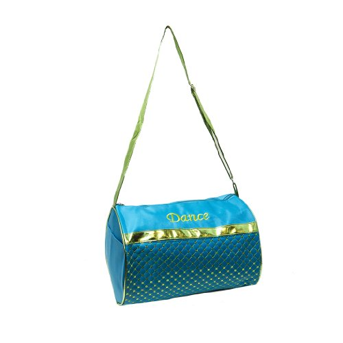 Dance Duffle Bag Turquoise & Metallic Green Sequin by