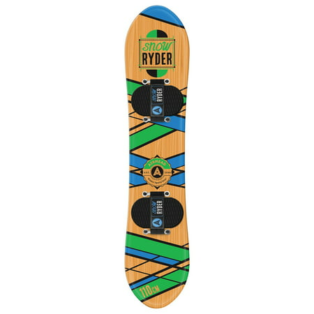 Airhead Snow Rider Hardwood Snowboard, 110cm, Wood (152cm Snowboard Package)