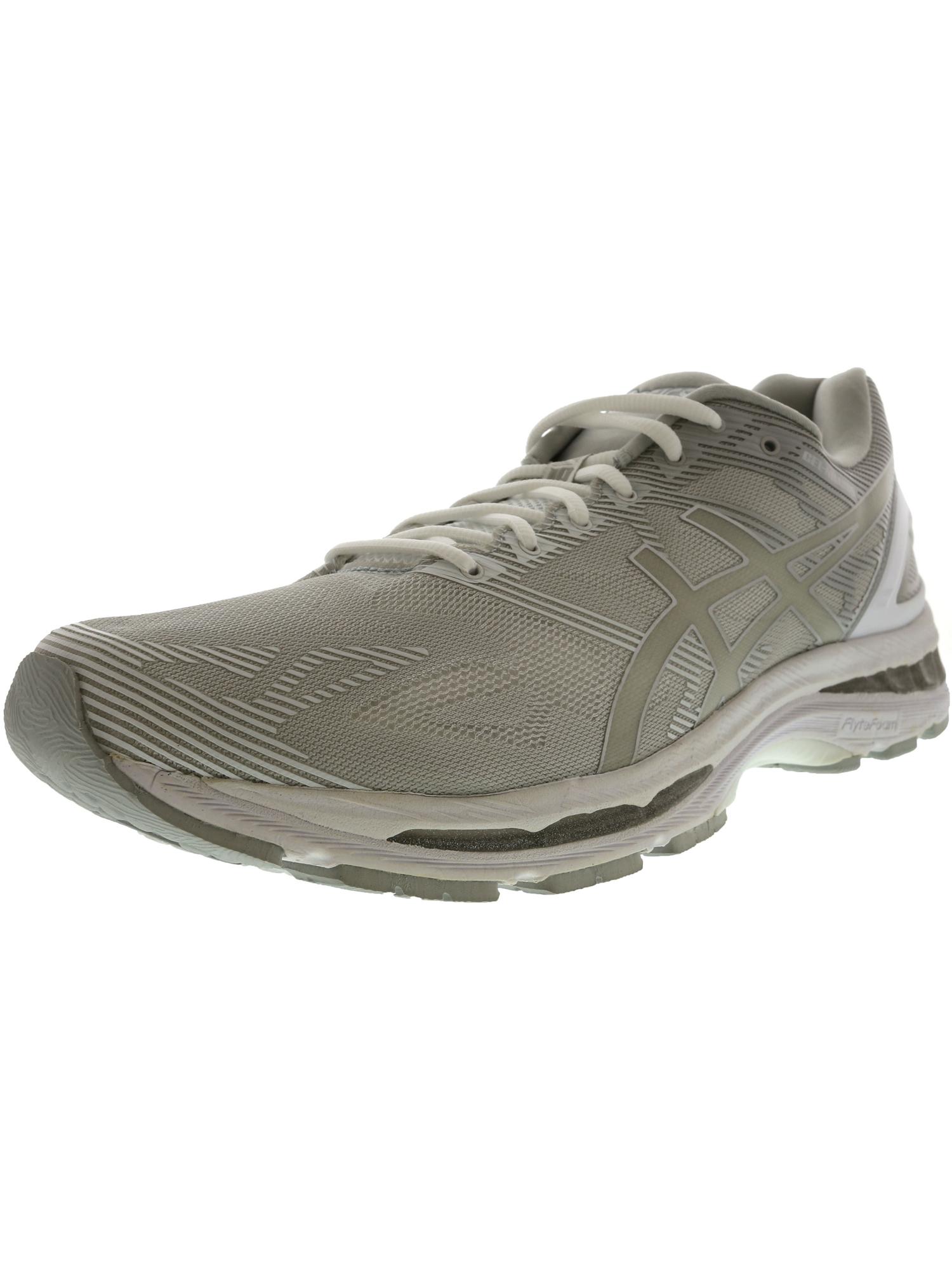Asics Men's Gel-Nimbus 19 Carbon / White Silver Ankle-High Running Shoe - 9.5W