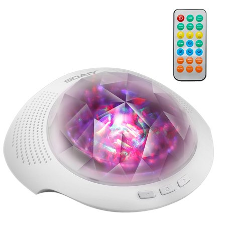 Soaiy Night Light Projector Color Changing Portable Nursery Nightlight Lamp W Timer Remote Control Bluetooth Music Player For Toddler Kids Baby