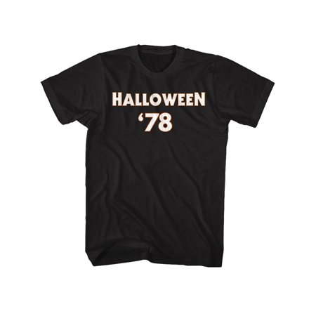 Halloween Scary Horror Slasher Movie 1978 Michael Meyers F & B Adult T-Shirt Tee](Halloween 1978 Title)