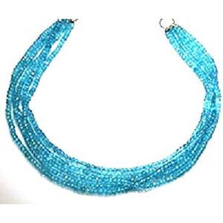 Apatite Necklaces 4 Strands Fine Brazilian Tourmaline  Apatite Beads Beaded Necklace 17