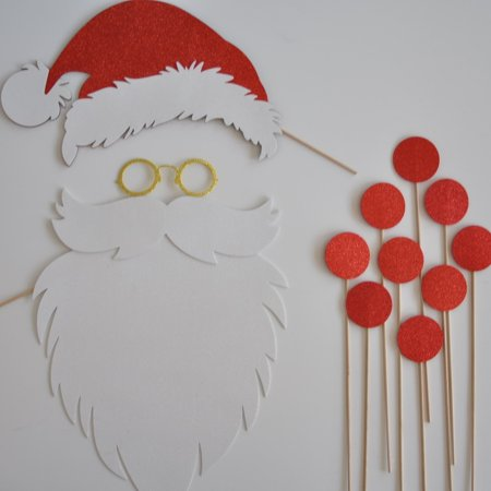 Santa Claus Hat and Beard Photo Booth Props Reindeer Noses](Reindeer Props)