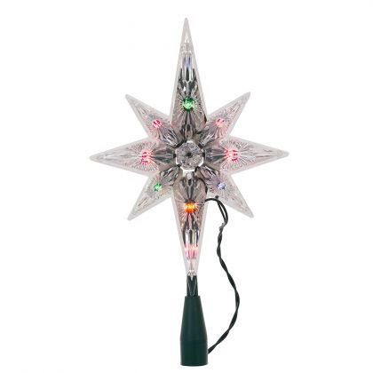 - Kurt Adler 10-Light 11-Inch Multi-Colored Polar Star Treetop