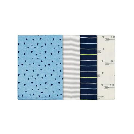 Gerber Assorted Flannel Burp Cloth Set, 4pk (Baby Boys)