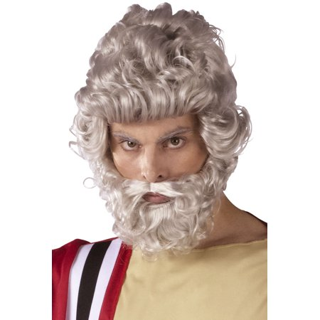 Moses Wig and Beard Set Adult Halloween Accessory