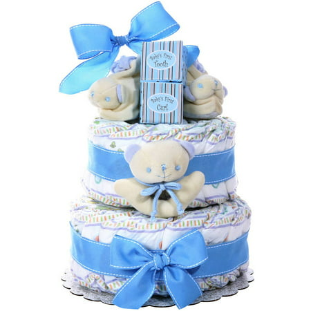 Image of Alder Creek Baby Boy Diaper Cake, 44 pc
