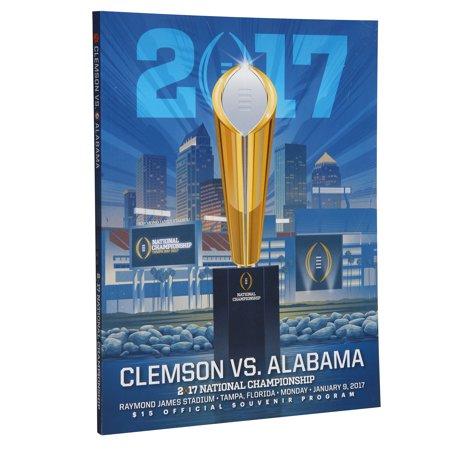 Alabama Crimson Tide vs. Clemson Tigers College Football Playoff 2017 National Championship Dueling Program - No Size (Tigers College Football Helmet)
