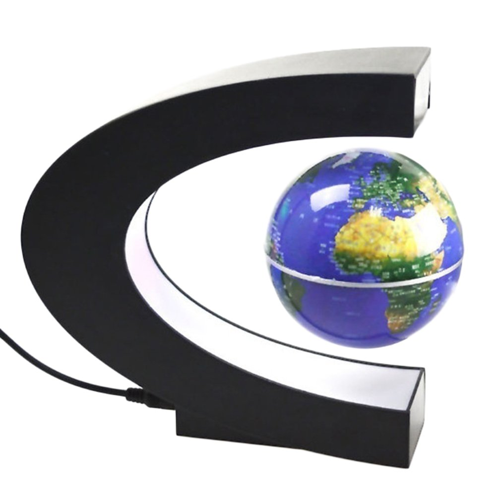 Captivating Levitation Anti Gravity Globe Magnetic Floating Globe World Map With LED  Light For Children Gift Home