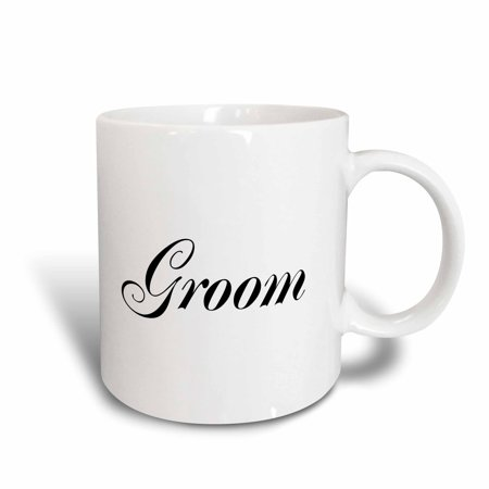 3dRose Groom - part of bride and groom set - couples gift - wedding marriage just married bachelor party, Ceramic Mug, 15-ounce](Groom To Bride Gift)