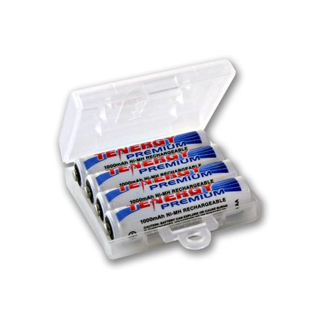 Tenergy Premium Rechargeable AAA Batteries, High Capacity 1000mAh NiMH AAA Batteries, AAA Cell Battery, 4-Pack with 1 AAA Size Battery -