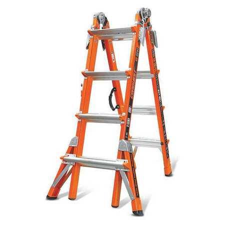 - Multipurpose Ladder,17 ft.,IA,Fiberglass LITTLE GIANT 15144