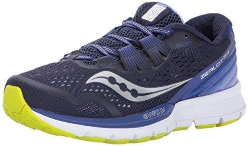 Saucony Women's Zealot ISO 3 Running Shoe, Navy Purple, 7 Medium US by Saucony