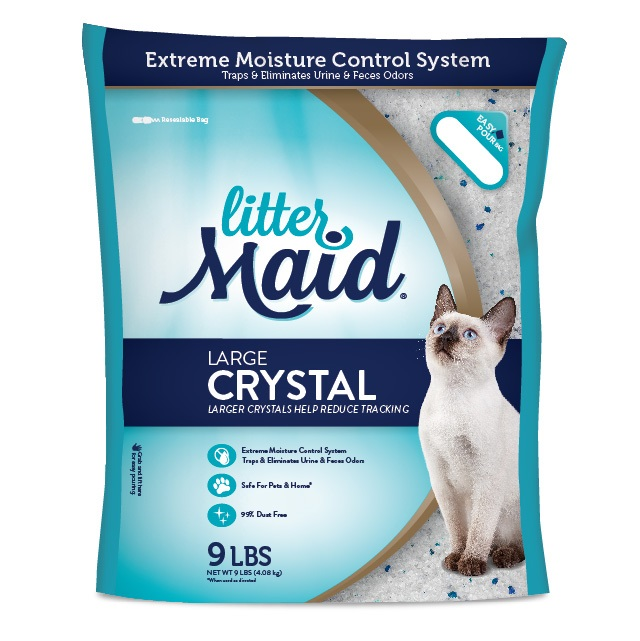 Littermaid Large Crystal 99% Dust Free Cat Litter, 9-Pounds
