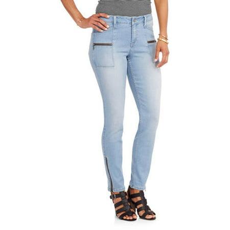 - Women's Sargeant Moto Zipper Detail Skinny Jean