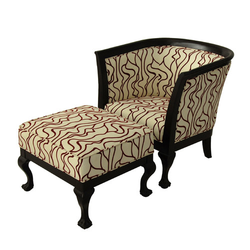 Carolina Accents Biedermeier Chair and Ottoman by