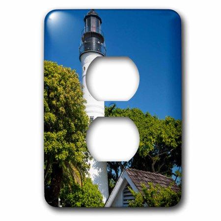 3dRose Key West Lighthouse, Key West, Florida, USA - 2 Plug Outlet Cover (Florida Keys Outlet Mall)
