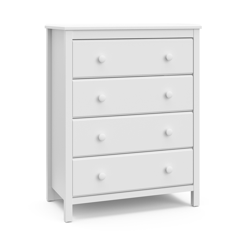 Storkcraft Alpine 4 Drawer Dresser Chest White