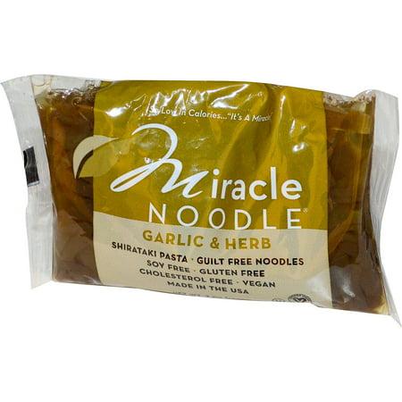 Miracle Noodle, Garlic & Herb, Shirataki Pasta, 7 oz (pack of 1) ()