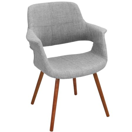 Vintage Flair Mid-Century Modern Chair in Light Grey by