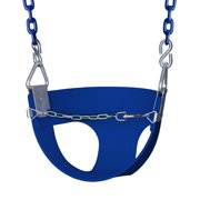 Gorilla Playsets Half Bucket Toddler Swing - Blue with Blue Chains