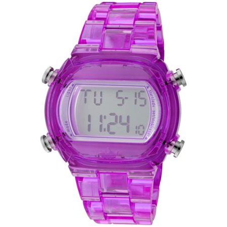 Adidas ADH6506 Candy Purple Nylon Bracelet with 44mm Digital Watch New In Box