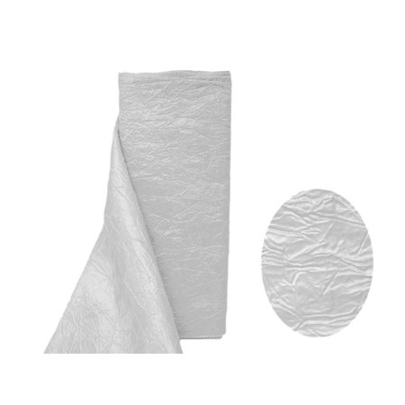 """54"""" x 10 Yrd Taffeta Crinkle Fabric Bolt Wedding Party Crafts Sewing"""