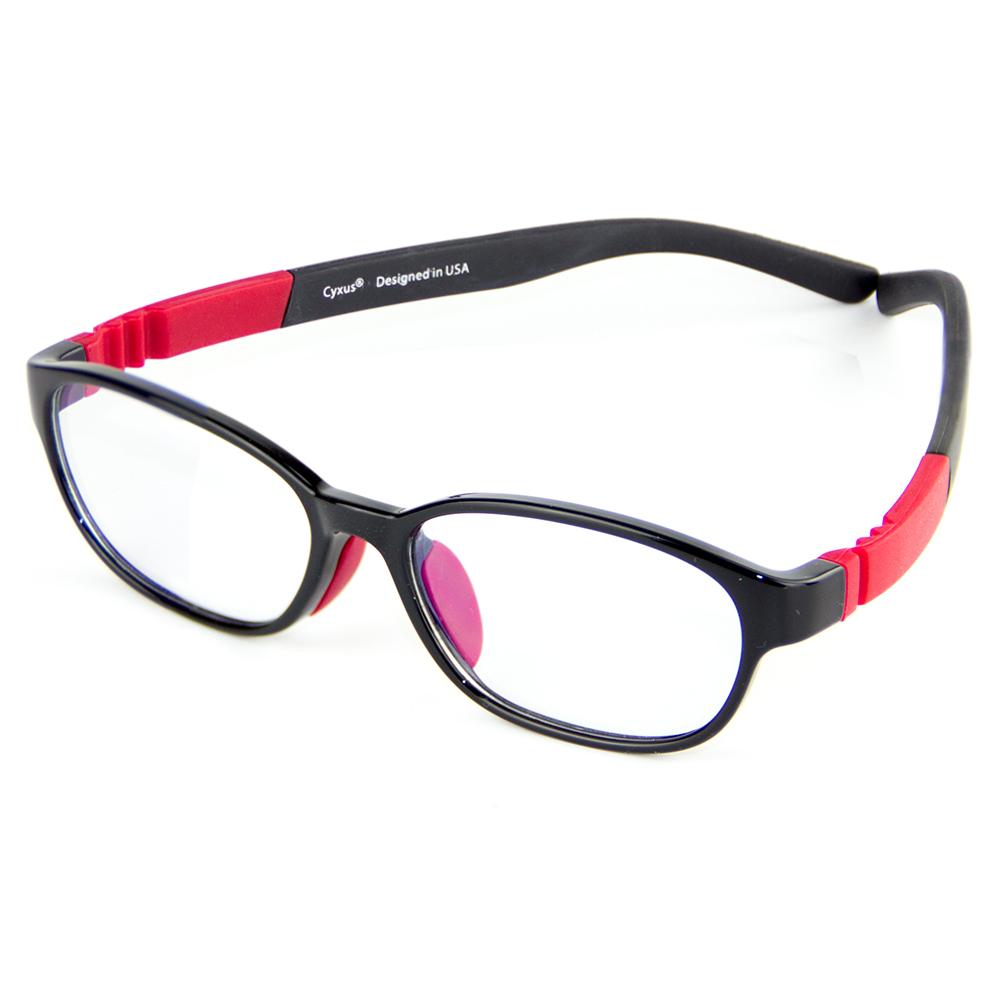 Cyxus Kids TR90 Computer Glasses Flexible Lightweight Blocking Blue Light Anti Eyestrain Gaming Eyewear Clear Lens