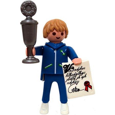 Playmobil Fi?ures Series 1 Blue Trophy Winner Minifigure - Mini Trophy