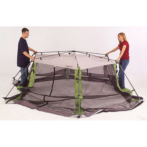 Coleman 15u0027 x 13u0027 Straight Leg Instant Screened Shelter (195 sq. ft Coverage) - Walmart.com  sc 1 st  Walmart & Coleman 15u0027 x 13u0027 Straight Leg Instant Screened Shelter (195 sq ...