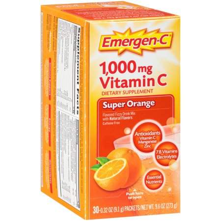 Emergen-C Drink Mix Orange, .32 Oz, 30 Packets, 1 Count
