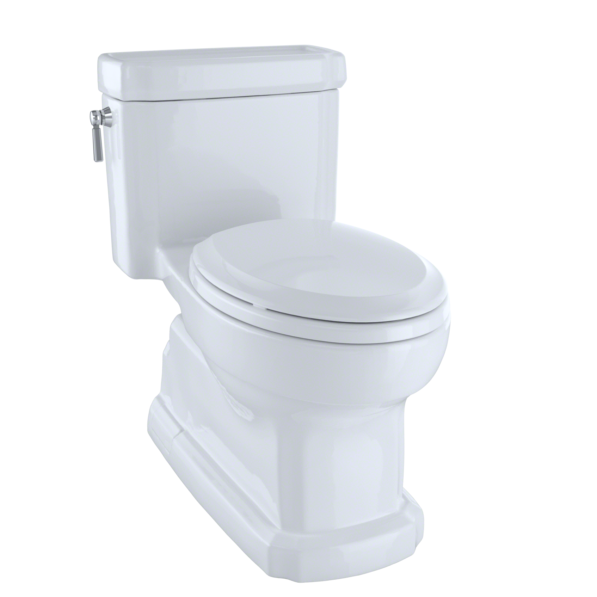 TOTO® Eco Guinevere® Elongated 1.28 GPF Universal Height Skirted Toilet with CeFiONtect™, Cotton White - MS974224CEFG#01