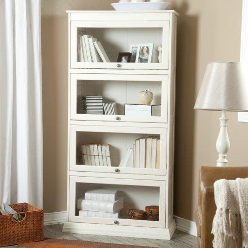 Bradshaw 4 Tier Barrister Bookcase - Creamy White