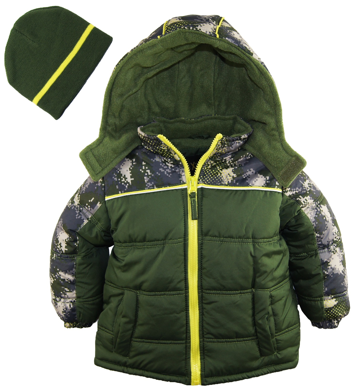 Ixtreme Little Boys Digital Camo Puffer Winter Jacket
