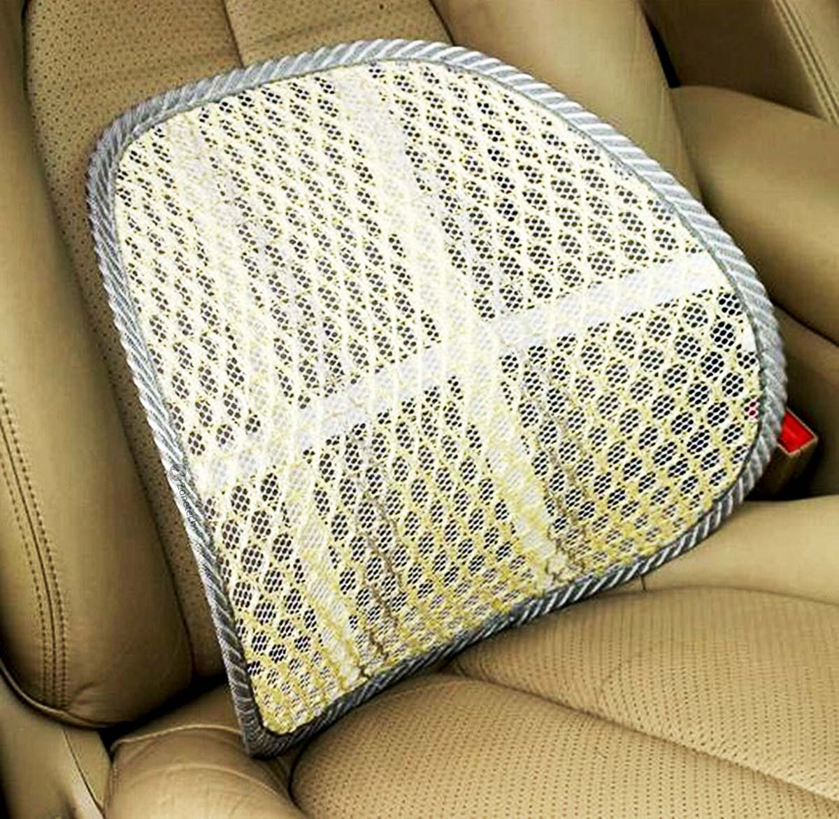Zone tech mesh hollow car auto chair seat premium quality light color hollow car auto chair seat back cushion home office waist lumbar support pillow pad