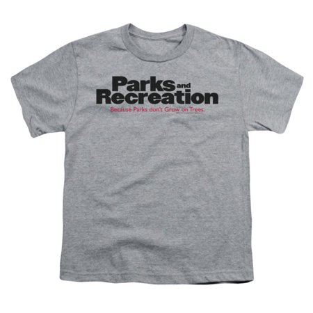 Parks And Recreation Men's  Logo T-shirt Heather (Parks And Recreation Season 5 Halloween)