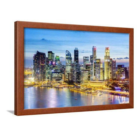 Elevated View over Singapore City Centre and Marina Bay, Singapore, Southeast Asia, Asia Framed Print Wall Art By Gavin Hellier