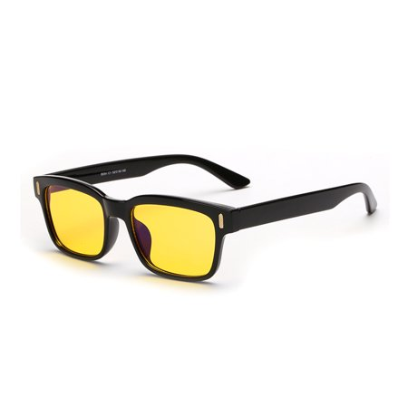 Cyxus Blue Light Blocking Yellow Lens Computer Glasses Anti Eye Strain UV Gaming Reading (Eye Strain Glasses Computer)