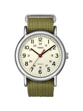 Timex Men's Weekender T2N651 White Nylon Analog Quartz Fashion Watch