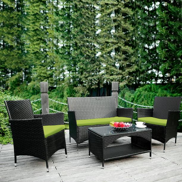 4 Pieces Outdoor Patio Furniture Sets, Patio Furniture Set