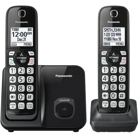 Panasonic KX-TGD512B Expandable Cordless Phone with Call Block - 2 Handsets