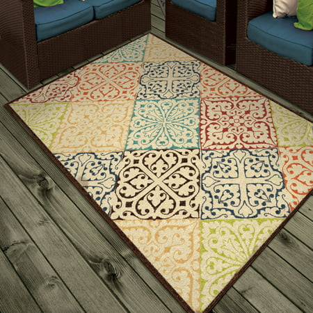 Orian Rugs Indoor Outdoor Walker Multi Colored Area Rug Walmart Com