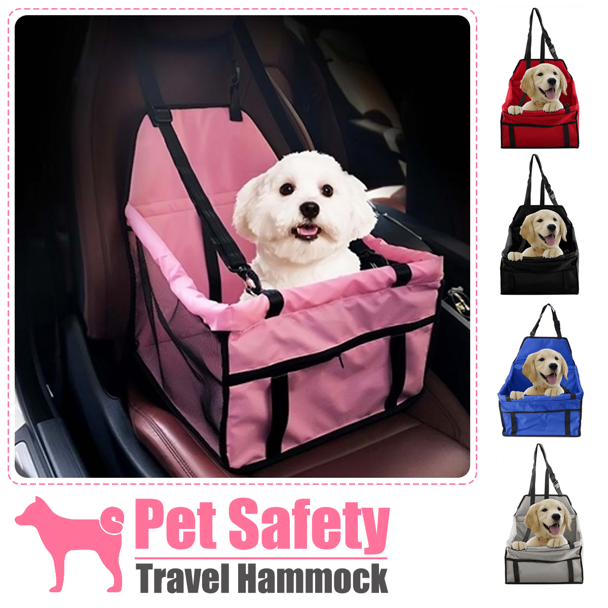 Portable Folding Pets Dogs Cats Car Seat Safe Carrier  Beds Puppy Belt Bag Foldable Travel Hammock Pet Sleeping for Outdoor