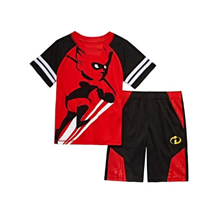 Disney Incredibles Toddler & Boys Red Dash Outfit Tee Shirt & Shorts Set