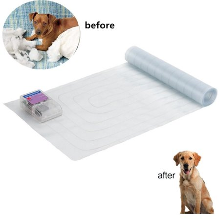 WALFRONT 3 Sizes Pet Training Mat Scat Mat for Dogs Cats Electric Safe Shock Mat,Outdoor Indoor Dogs Cats Training Mat for Sofa Furniture Couch,3 Training Modes Pet Shock Pad - Indoor Dog Toilet