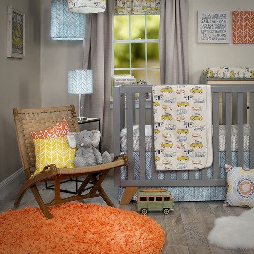 Happy Camper 3Pc Set (Includes quilt,  sheet, crib skirt)