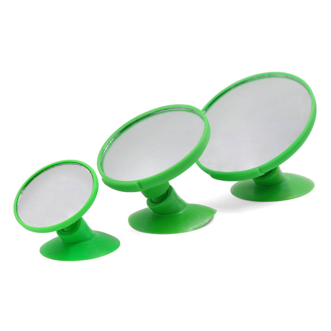 Unique Bargains Universal Car Green Shell Wide Angle Convex Blind Spot Rearview Mirror 3 Pcs