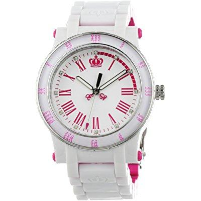 Juicy Couture women's 1900750 hrh white and pink plastic ...