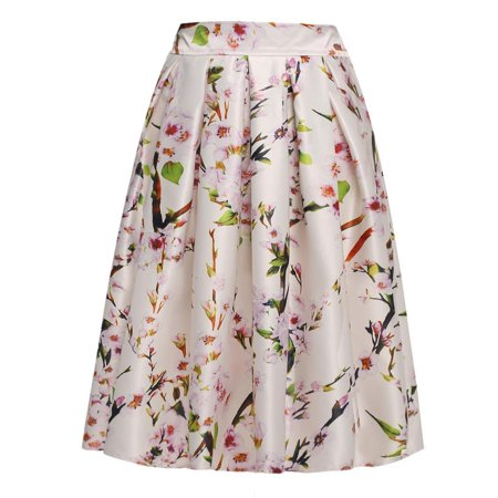 2ad3554055c1 Swing Skirt Lady Women\'s Retro Style Floral Pattern Pleated Skirt ...